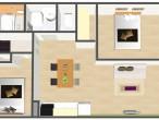 シャトーデアサヒ オール洋室プラン 鳥瞰図