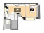 ベルトピア伊丹Ⅱ 201・202号室 鳥瞰図