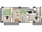 グランドール夕陽ヶ丘 306号室 鳥瞰図