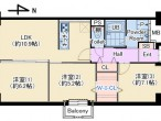 パティオ北加賀屋 2501号室 仲介用図面